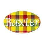 Tartan - Baxter 35x21 Oval Wall Decal
