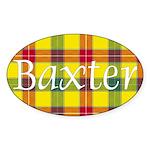 Tartan - Baxter Sticker (Oval 10 pk)