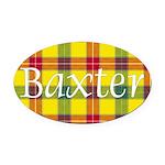 Tartan - Baxter Oval Car Magnet