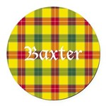Tartan - Baxter Round Car Magnet