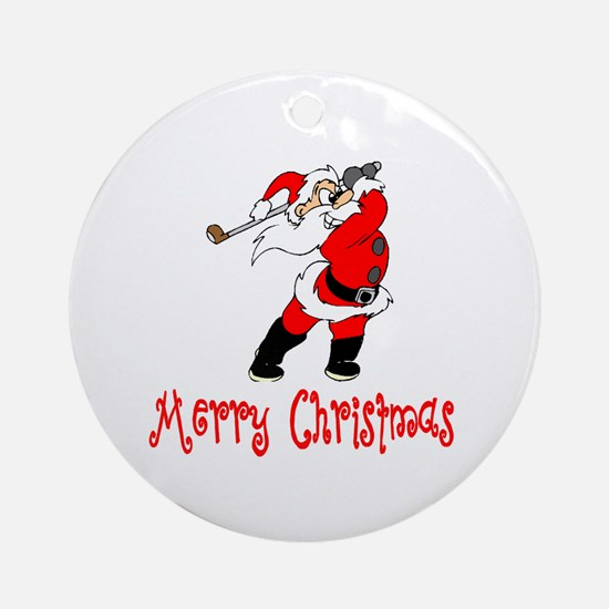 GolfChick Merry Christmas Ornament (Round)