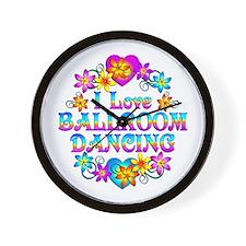 I Love Ballroom Wall Clock