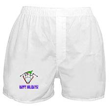 Frosty Ski's Happy Holidays Boxer Shorts