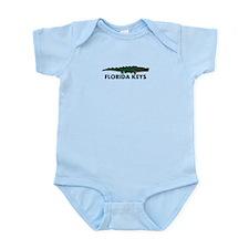 Florida Keys -Allligator Design. Infant Bodysuit
