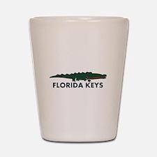 Florida Keys -Allligator Design. Shot Glass