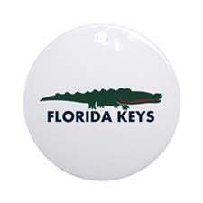 Florida Keys -Allligator Design. Ornament (Round)