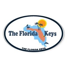 Florida Keys - Map Design. Decal