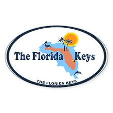 Florida Keys - Map Design. Stickers