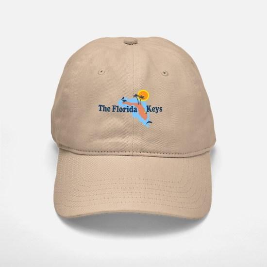 Florida Keys - Map Design. Baseball Baseball Cap