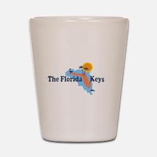 Florida Keys - Map Design. Shot Glass