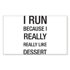 I run because I really really like dessert Decal