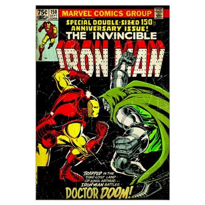The Invincible Iron Man (Iron Man Battles Doctor D Canvas Art