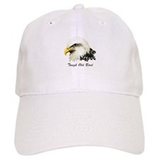 Tough Old Bird Quote with Bald Eagle Baseball Baseball Cap
