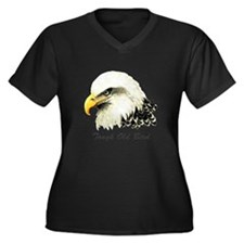 Tough Old Bird Quote with Bald Eagle Plus Size T-S