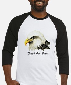 Tough Old Bird Quote with Bald Eagle Baseball Jers