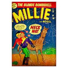 The Blonde Bombshell, Millie The Model Poster