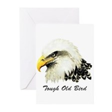 Tough Old Bird Quote with Bald Eagle Greeting Card