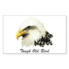 Tough Old Bird Quote with Bald Eagle Decal