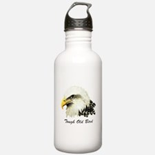 Tough Old Bird Quote with Bald Eagle Water Bottle