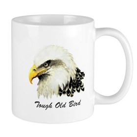 Tough Old Bird Quote with Bald Eagle Mug