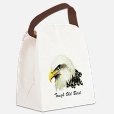 Tough Old Bird Quote with Bald Eagle Canvas Lunch