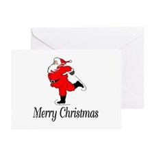 Santa Skates Merry Christmas Greeting Cards (Packa