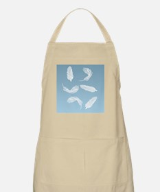 Floating Feathers Shower Curtain Apron