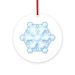Flurry Snowflake VIII Ornament (Round)