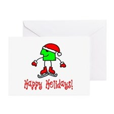 Skate Critter Happy Holidays Greeting Cards (Packa