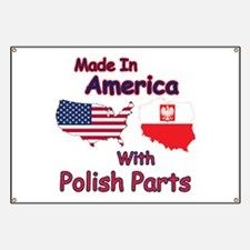 America With Polish Parts Banner