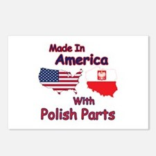 America With Polish Parts Postcards (Package of 8)