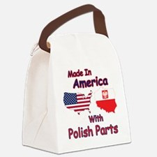 America With Polish Parts Canvas Lunch Bag