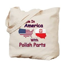 America With Polish Parts Tote Bag