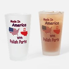 America With Polish Parts Drinking Glass