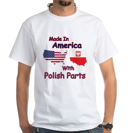 America with polish parts white t shirt america with for Polish t shirts online