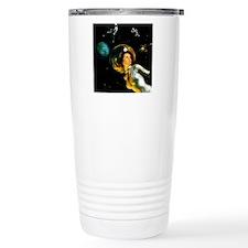 Space Age Girl in Orbit Travel Mug
