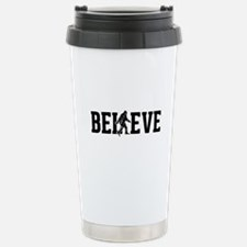 Believe Sasquatch Bigfoot Travel Mug