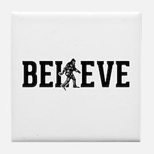 Believe Sasquatch Bigfoot Tile Coaster