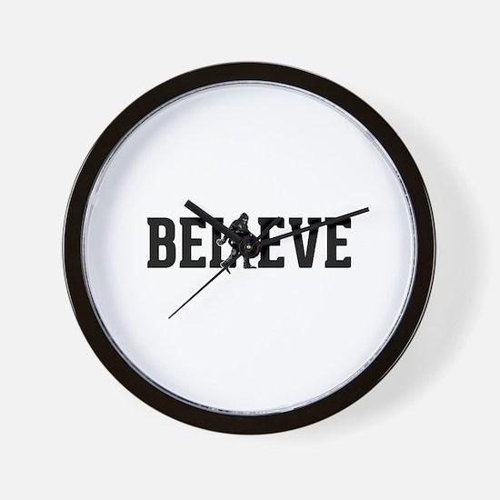 Believe Sasquatch Bigfoot Wall Clock
