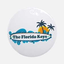 Florida Keys - Surf Design. Ornament (Round)