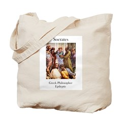 Socrates-Epileptic Tote Bag