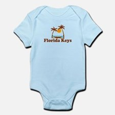 Florida Keys - Palm Trees Design. Infant Bodysuit