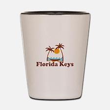 Florida Keys - Palm Trees Design. Shot Glass