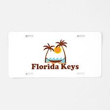 Florida Keys - Palm Trees Design. Aluminum License