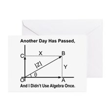 I Didn't Use Algebra Once Greeting Cards (Pk of 10
