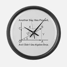 I Didn't Use Algebra Once Large Wall Clock
