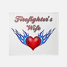 Firefighter's Wife Throw Blanket
