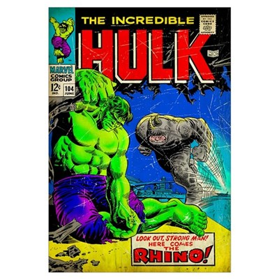 The Incredible Hulk (The Rhino) Poster