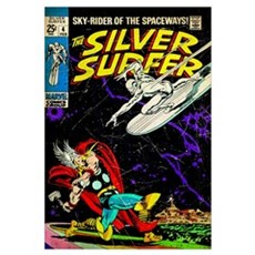 The Silver Surfer Framed Print