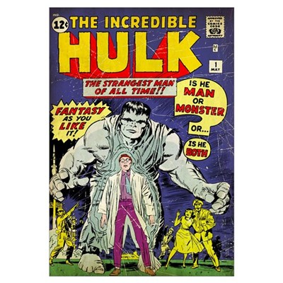 The Incredible Hulk (The Strangest Man Of All Time Poster